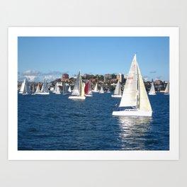 Sailing in Sydney Art Print