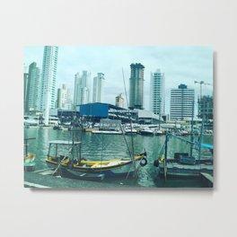 Seaside town Metal Print