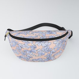 Plumbago Floral Pattern | Peach Blue Fanny Pack