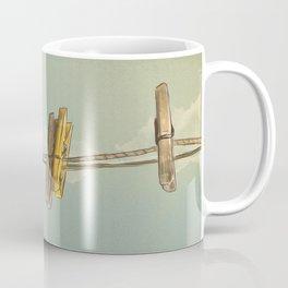 Vintage Clothespin Coffee Mug