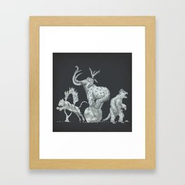 Prehistoric Circus Framed Art Print