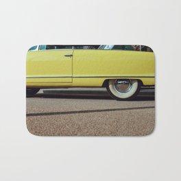 Retro yellow car Bath Mat