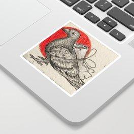 A carrier pigeon Sticker