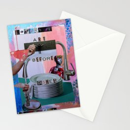 Art Before Dishes Stationery Cards