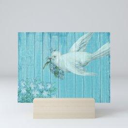 Shabby Chic Dove Of Peace Mini Art Print