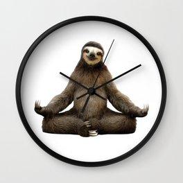 Sloth Yoga Art Print Wall Clock