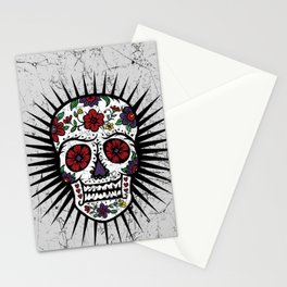 Sugar Skull Star Stationery Cards