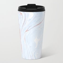 Blue Orange Marble Retro Marble Paper Travel Mug