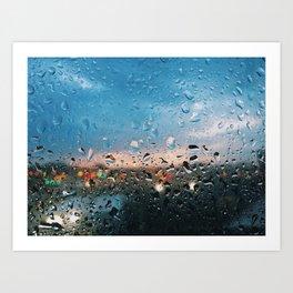 Evening Rainfall Art Print