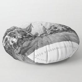 The Surrender Of Cornwallis At Yorktown Floor Pillow