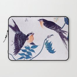 Swallows and Wisteria B Laptop Sleeve
