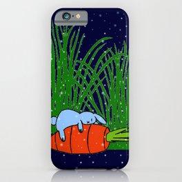 Bonne nuit petit lapin bleu  iPhone Case