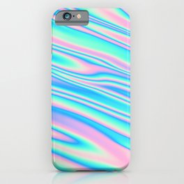 Holographic Abstract Rainbow Gradient #12 iPhone Case