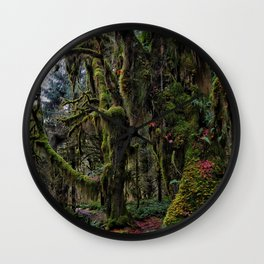 Hoh, Moss Covered Trees Wall Clock