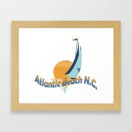Atlantic Beach - North Carolina. Framed Art Print