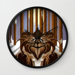 Spooky Forest Wall Clock