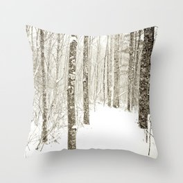 Wintry Mix Throw Pillow