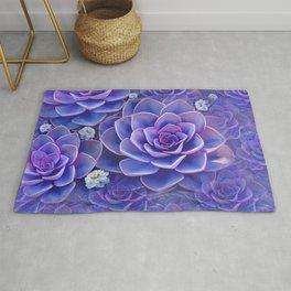 """""""Bouquet of pastel violet exotic succulents"""" Rug"""
