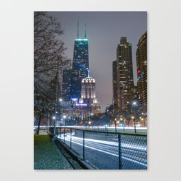 Lake Shore Drive @ Night Canvas Print
