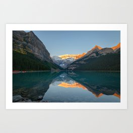 LAKE LOUISE AUTUMN SUNRISE BANFF NATIONAL PARK CANADA LANDSCAPE PHOTOGRAPHY Art Print