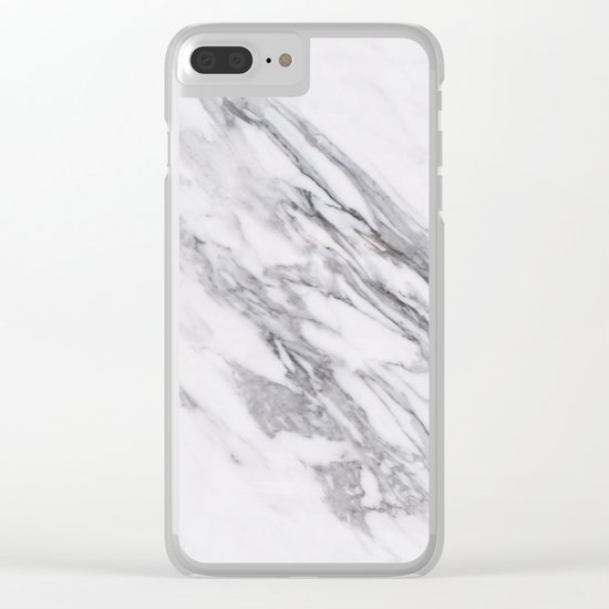 Alabaster marble Clear iPhone Case
