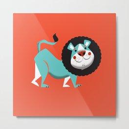 Evan the lion Metal Print