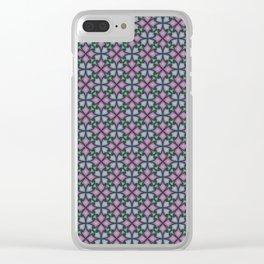 Interlocking Petals Clear iPhone Case