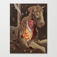 catcher in the rye Canvas Prints featuring The Catcher in the Rye by Malcolm Loo