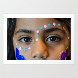 Eyes Of A Child Art Print