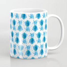 Cute Blue Squid Coffee Mug