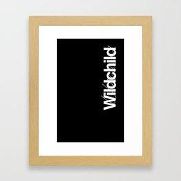 Wildchild_black Framed Art Print