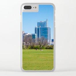 Austin Texas Skyline Clear iPhone Case