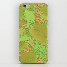 Free Hugs (Venus flytrap - Orange) iPhone Skin