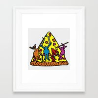 keith haring Framed Art Prints featuring Keith Haring & Turtle by le.duc