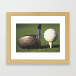 Golf Club and Ball on Tee Framed Art Print