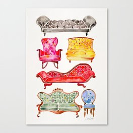 Victorian Lounge – Rainbow Palette Canvas Print