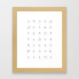 Black Middle Fingers Framed Art Print