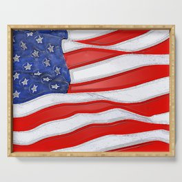 Fancy Flag:  USA 1 Serving Tray