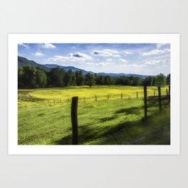 Cades Cove - Great Smoky Mountains National Park Art Print