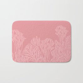 Dusty Pink Coral Garden Bath Mat