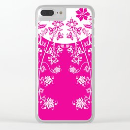 floral ornaments pattern wbp120 Clear iPhone Case