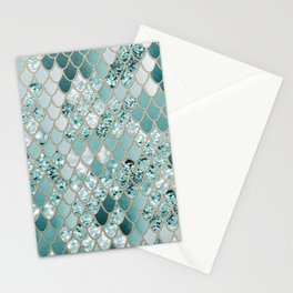Mermaid Glitter Scales #3 #shiny #decor #art #society6 Stationery Cards