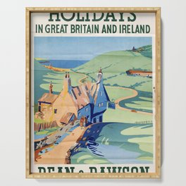 classic poster Holidays in Great Britain and Ireland Serving Tray