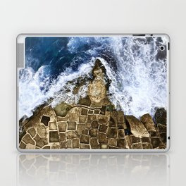 An abstract of the ocean and the coastal rocks. Laptop & iPad Skin