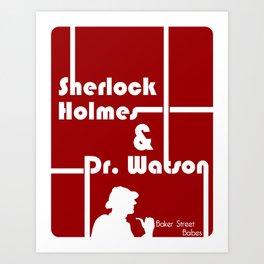 Baker Street Babes: Holmes and Watson Art Print