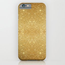 sparkling abstract gold dust glitter powder iPhone Case