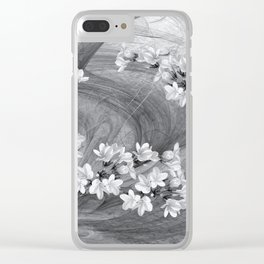 Flowers blowing in the wind Clear iPhone Case