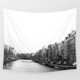 canal in Amsterdam Wall Tapestry