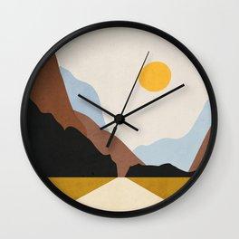 Minimal Art Landscape 9 Wall Clock