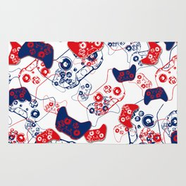 Video Game Red White & Blue 3 Rug